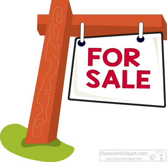 for-sale-sign-on-wood-post-clipart