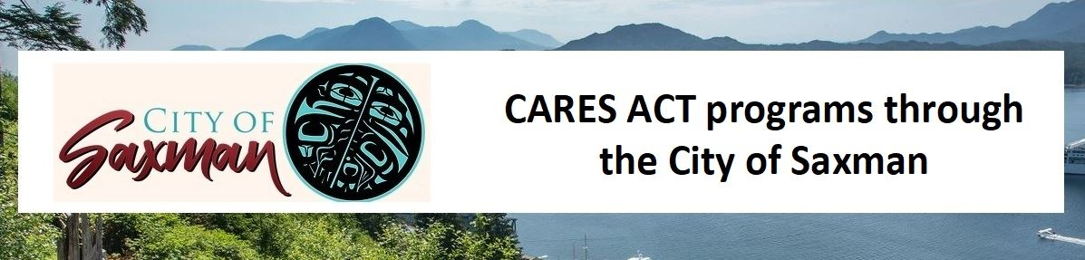City of Saxman logo for CARES ACT PROGRAMS 1