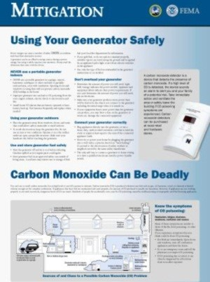 Carbon Monoxide and Generator Safety